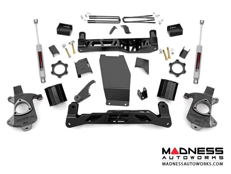 """Chevy Silverado 1500 Suspension Lift kit w/ N3 Shocks - 5"""" Lift - Cast Steel"""